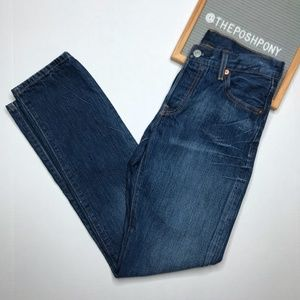 Levi's Button Fly 501 Straight Leg Jeans